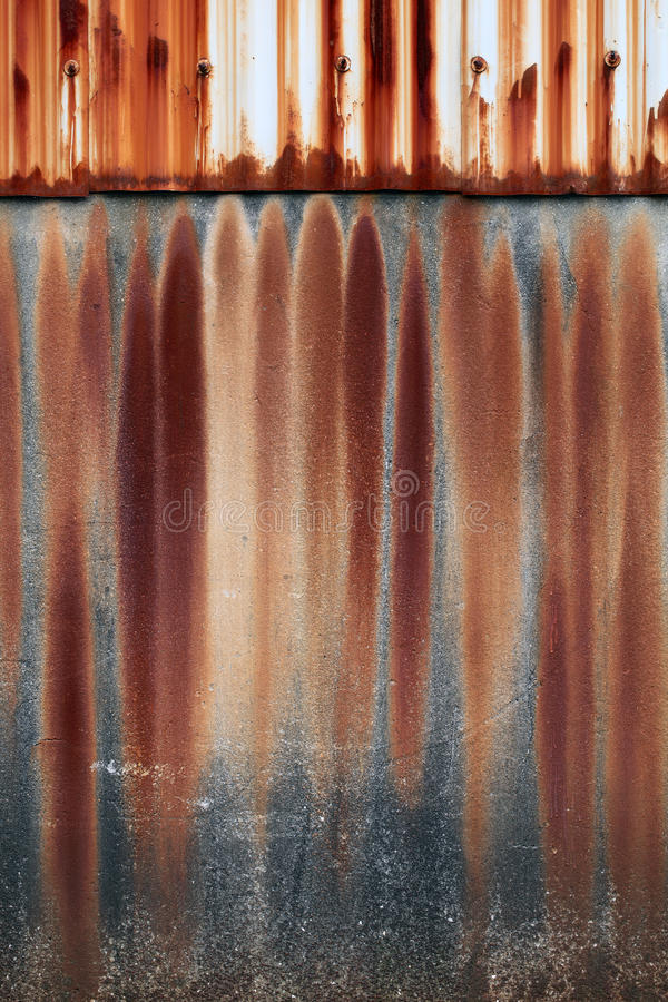 Rust Cement Wall : Concrete wall surface stock image of architecture