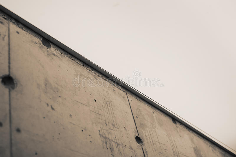 Concrete wall under the white light stock photography