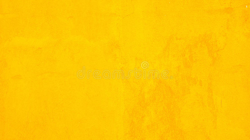 Concrete wall yellow color for texture background royalty free stock photos