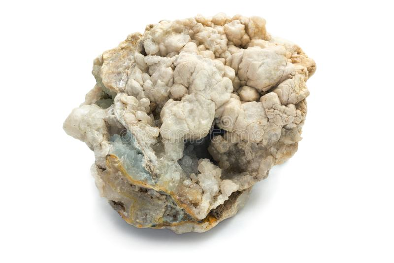 Concretie van mineralen met kleine binnen holten royalty-vrije stock foto's