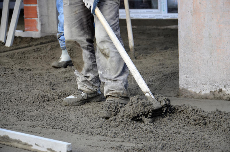Concreting地板 免版税库存照片