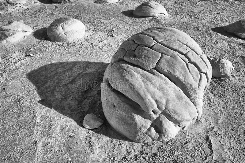 Concretion boulder stock photo