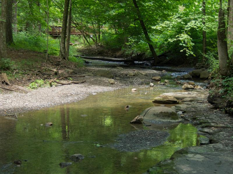 Concretions in the River. At a Delaware County, Ohio Park royalty free stock image