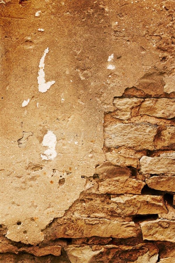 Concreto e parede de tijolo imagens de stock