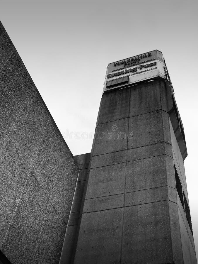 Concreto - edificio anterior de Yorkshire Post fotos de archivo