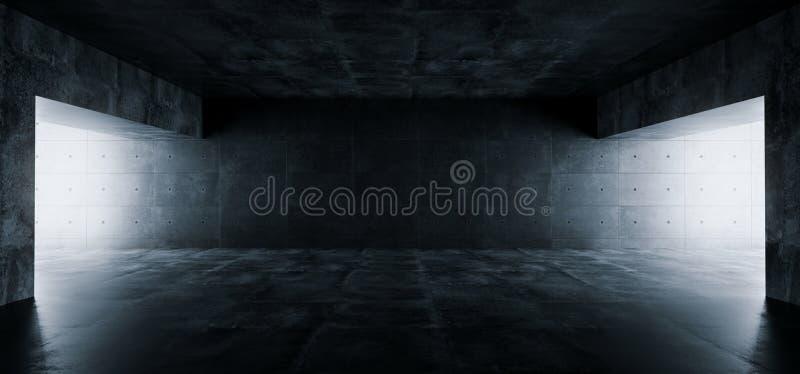 Concreto escuro Undergroun das reflexões do Grunge moderno elegante vazio ilustração do vetor