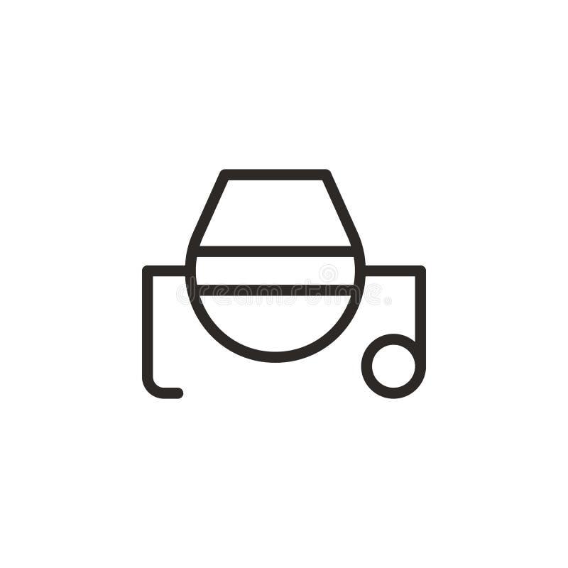 Concreto, icona di vettore del miscelatore Elemento dello strumento di progettazione per il concetto ed il vettore mobili dei app royalty illustrazione gratis