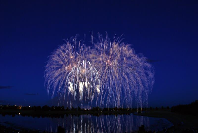 Concurrence 2008 de feux d'artifice photos stock