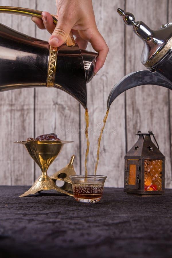 Concurrence arabe de café photos libres de droits