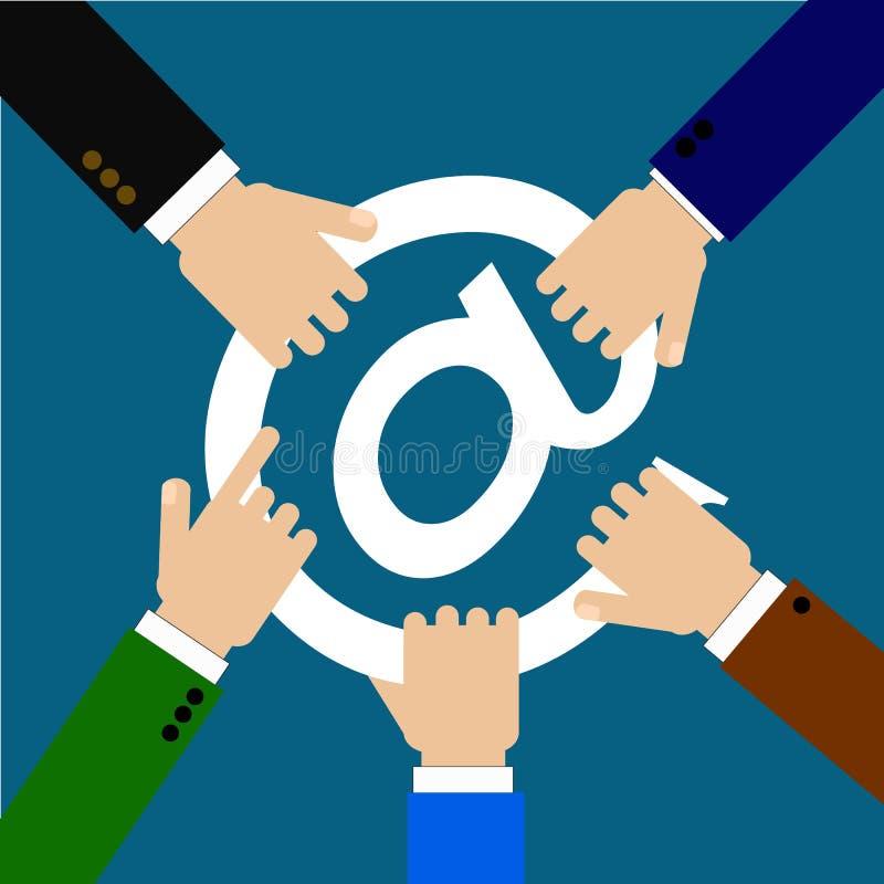Concurrence d'affaires dans l'Internet photos libres de droits