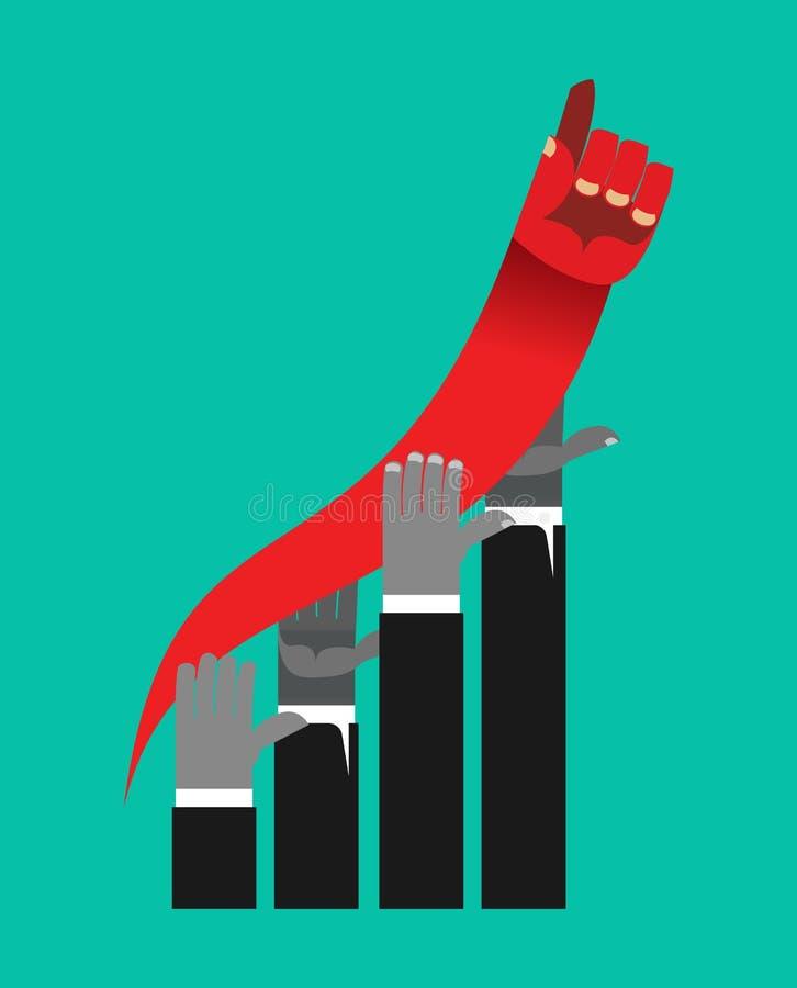 Concurrence d'affaires Graphique de gestion des taux de croissance concurrent illustration libre de droits