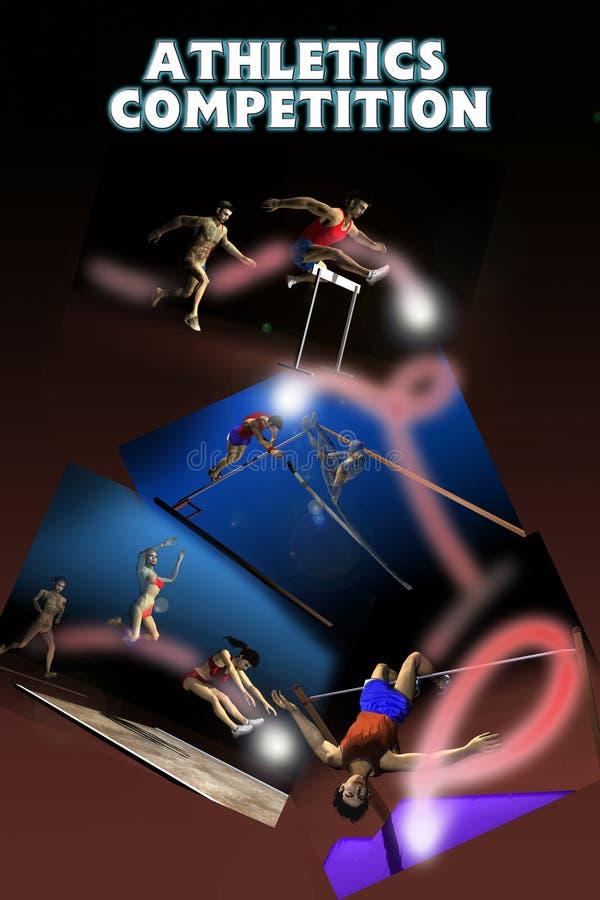 Concurrence d'athlétisme illustration de vecteur