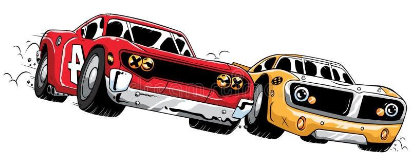 Concurrence de courses d'automobiles illustration de vecteur