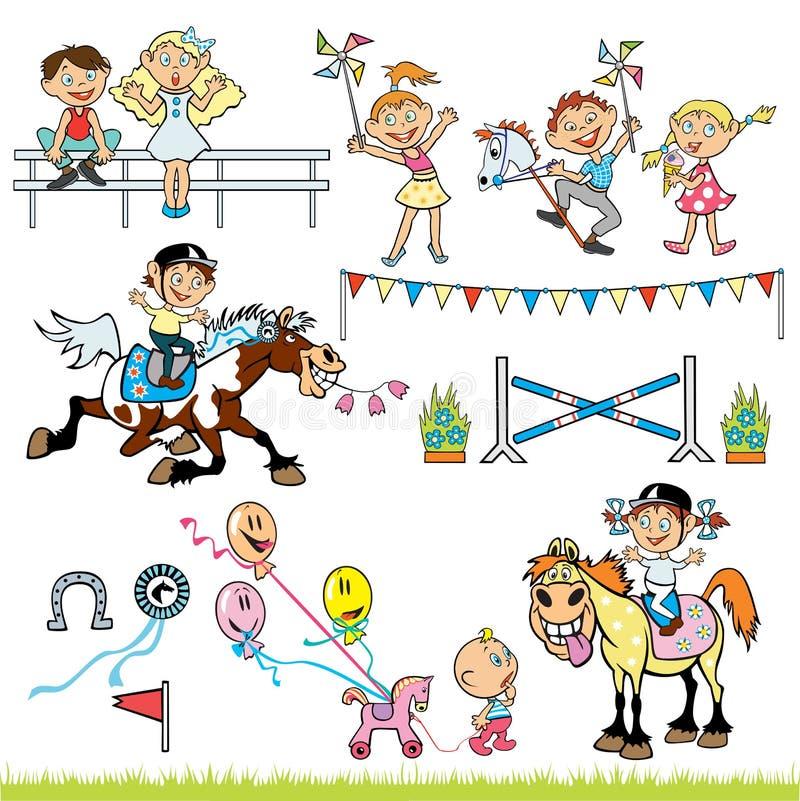Concurrence de curseurs d'enfants illustration de vecteur