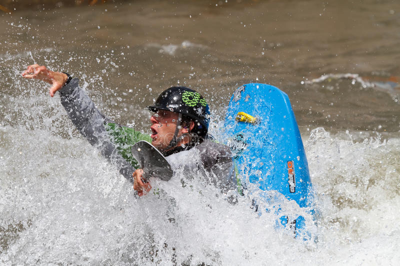 Concurrence de Kayaker photos stock
