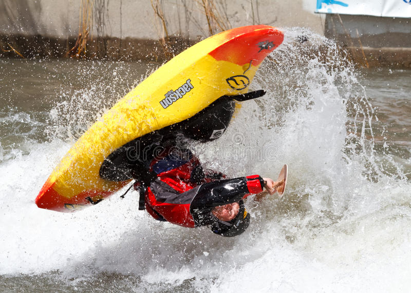 Concurrence de Kayaker images libres de droits