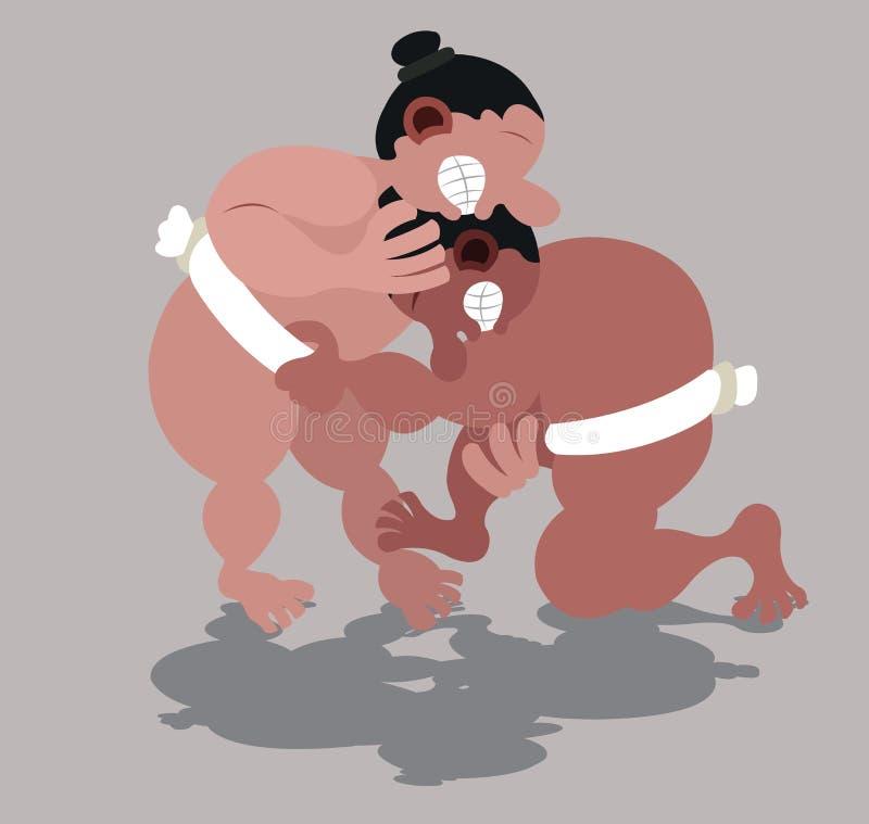 Concurrence de lutte de sumo illustration libre de droits