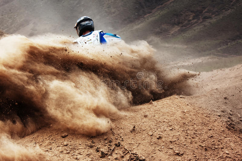 Concurrence de motocross photo stock