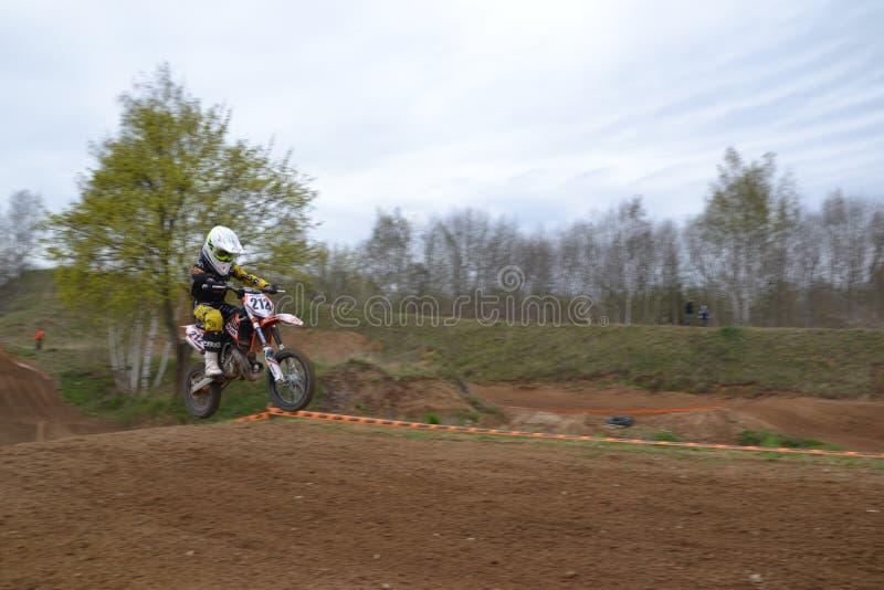 Concurrence de motocross image libre de droits
