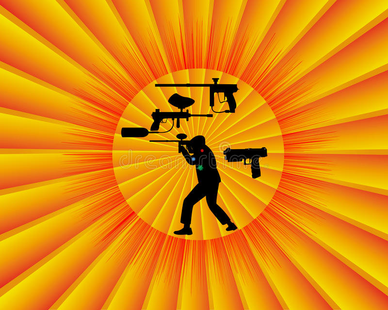 Concurrence de Paintball illustration stock