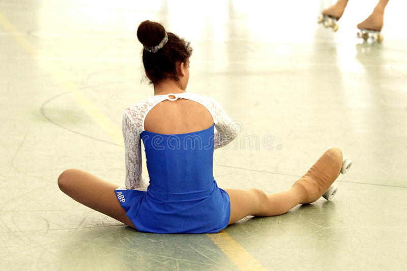 Concurrence de patinage images stock