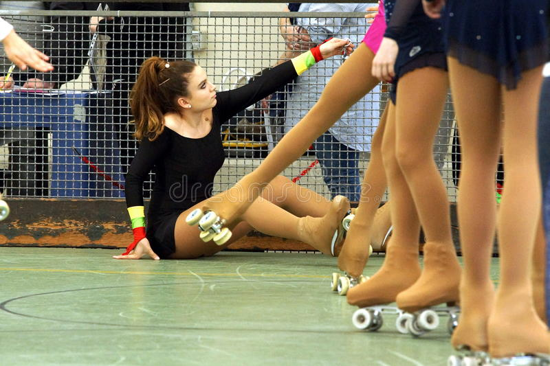 Concurrence de patinage photo stock