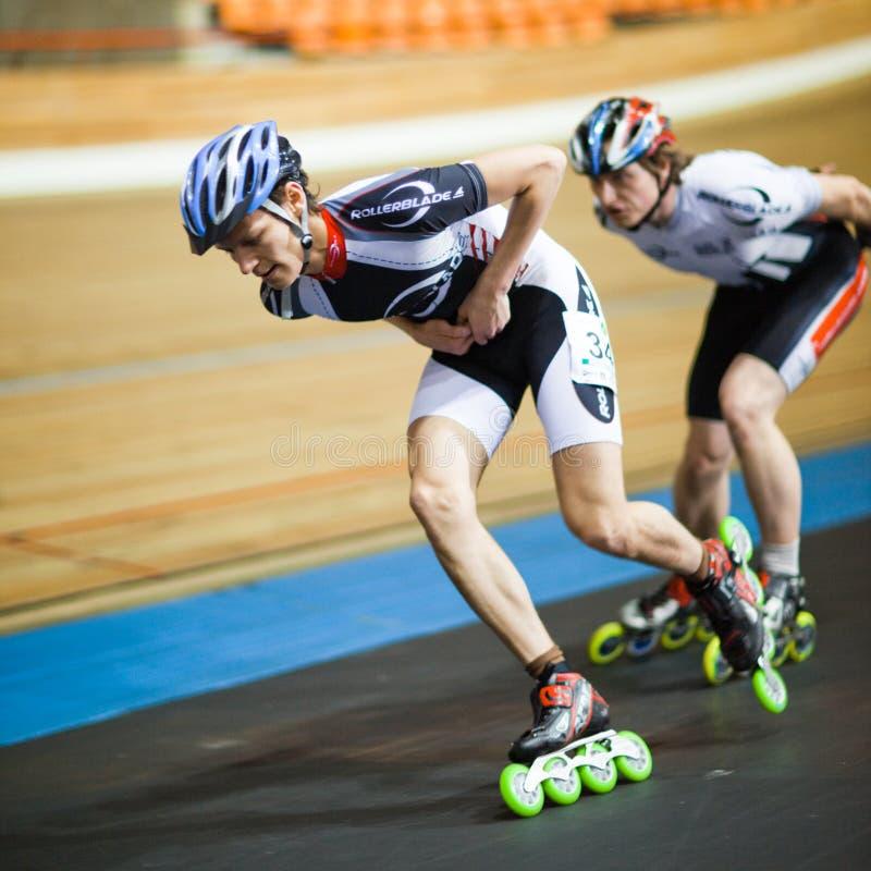 Concurrence de Rollerskating photo libre de droits
