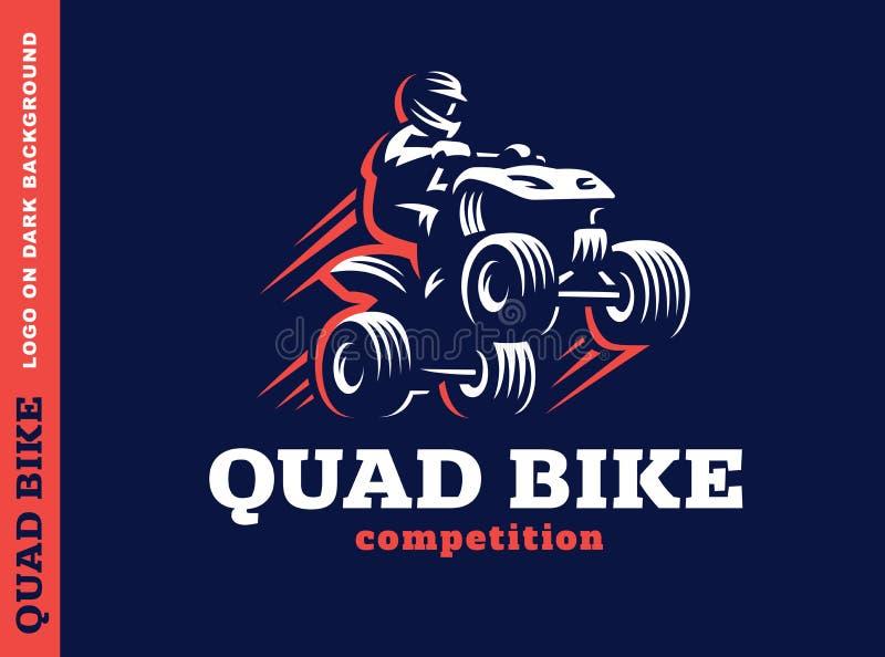 Concurrence de vélo de quadruple Conception de LOGO illustration libre de droits