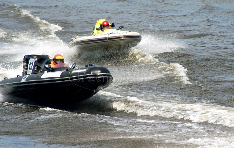Concurrence des bateaux photo stock