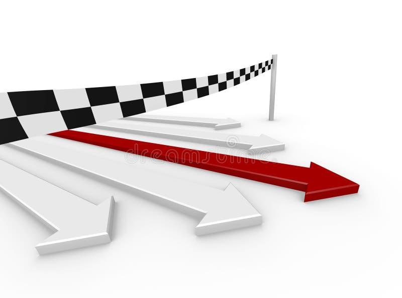 concurrence des flèches 3d - gagnant illustration de vecteur