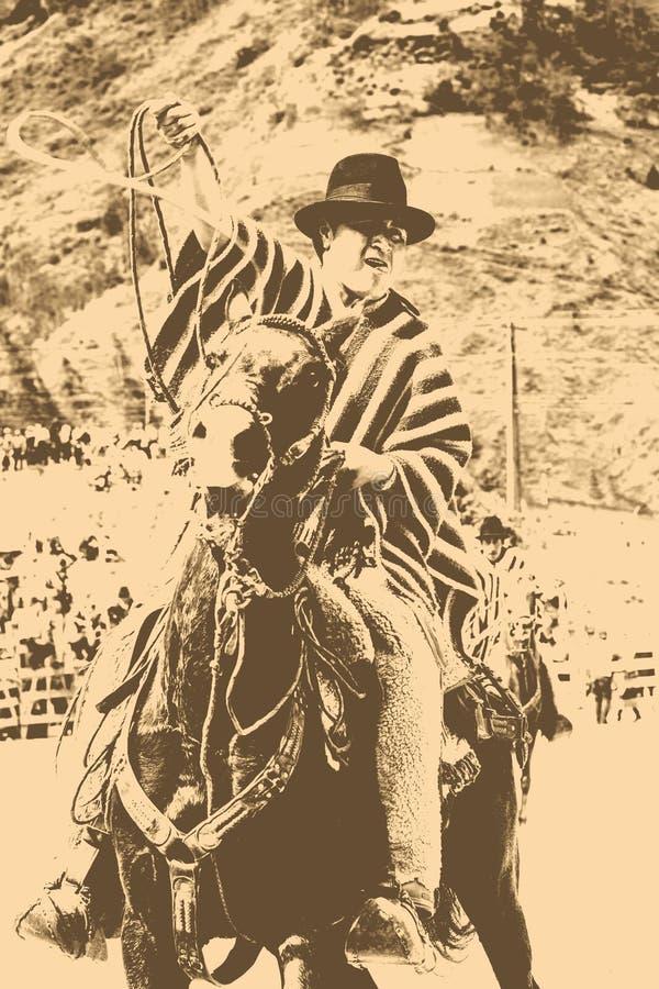 Concurrence latine de cowboy illustration de vecteur