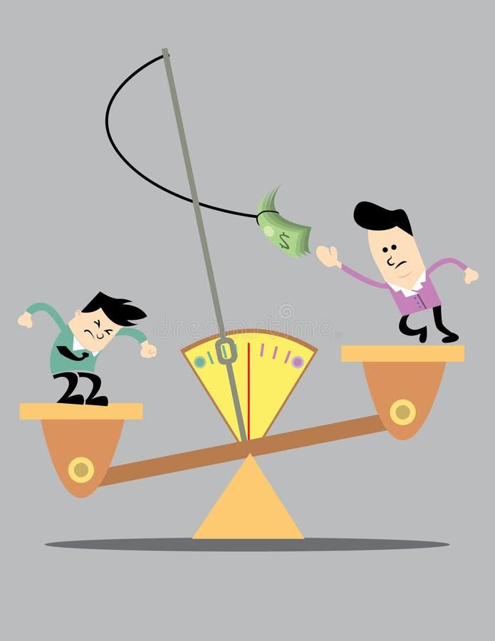 Concurrentie tussen de Twee bedrijfsmens royalty-vrije stock afbeelding