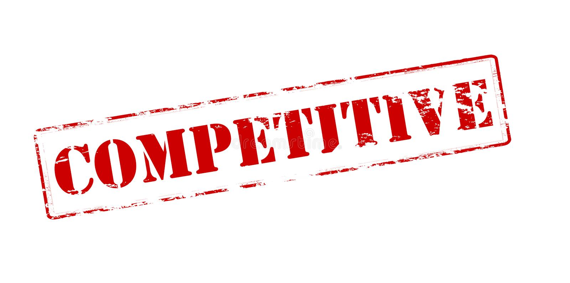 concurrentiel illustration de vecteur