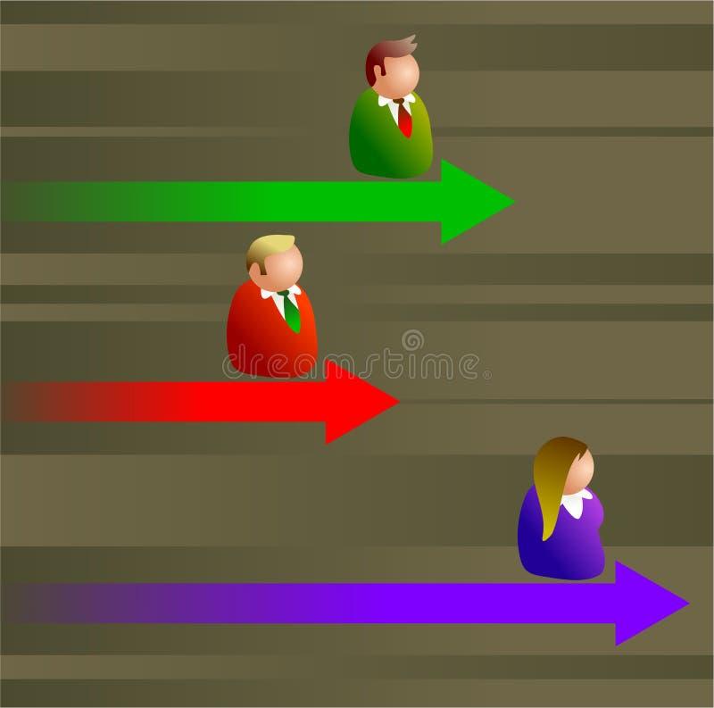 Concurrerend stock illustratie