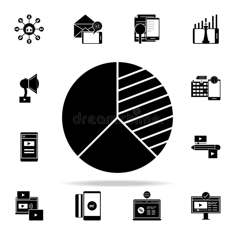 concurrerend analysepictogram Digitaal die marketing voor Web wordt geplaatst en mobiel pictogrammenalgemeen begrip vector illustratie