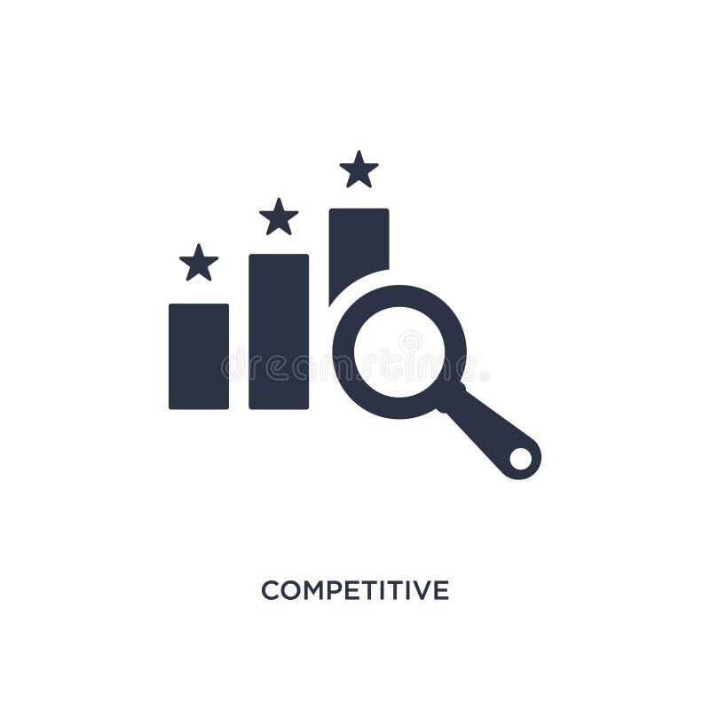 concurrerend pictogram op witte achtergrond Eenvoudige elementenillustratie van ethiekconcept royalty-vrije illustratie