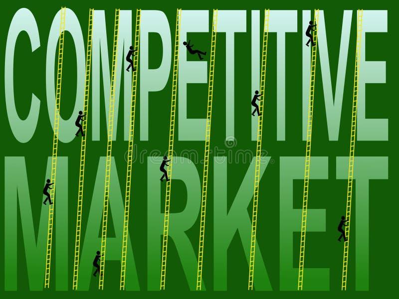Concurrerende markt stock illustratie