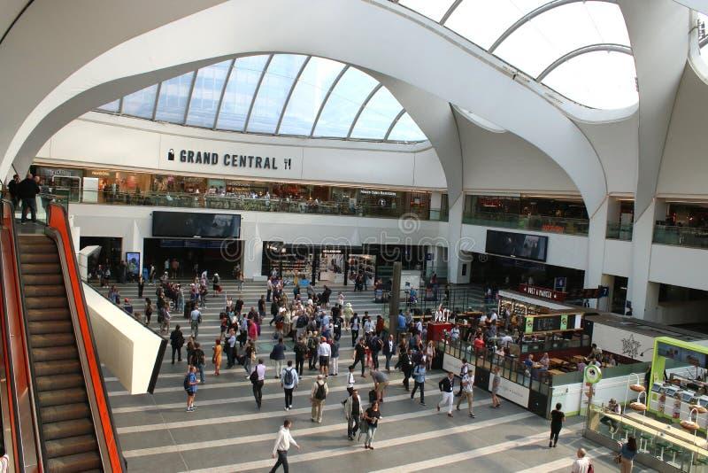 Concurso, Grand Central, Birmingham, Inglaterra fotografía de archivo libre de regalías