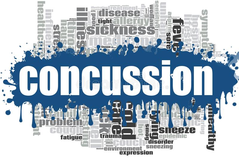 Concussion word cloud design. Creative illustration of idea word lettering typography . 3D rendering vector illustration