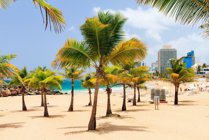 Condado beach San Juan stock photography