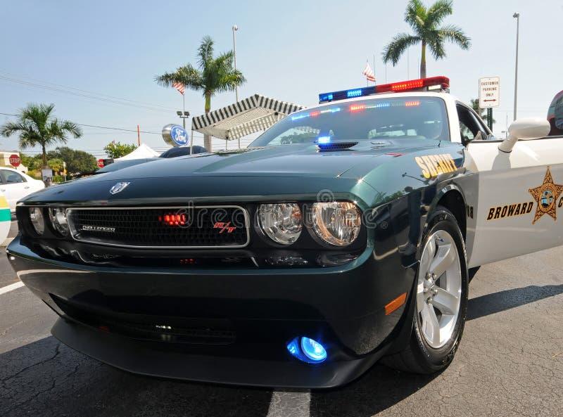 Condado de Broward, coche policía de la Florida fotografía de archivo
