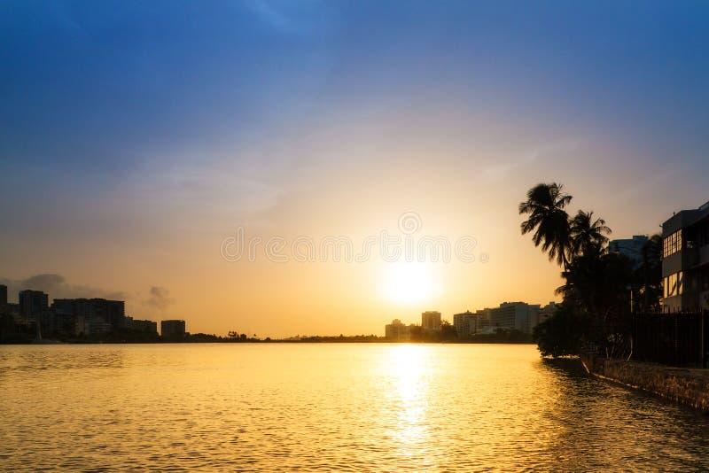 Condado lagoon twilight royalty free stock photo