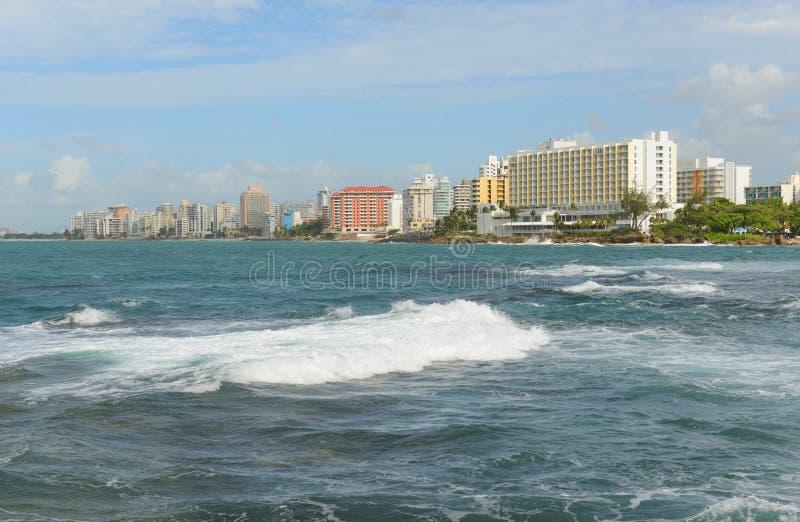 Condadohorizon, San Juan, Puerto Rico stock foto
