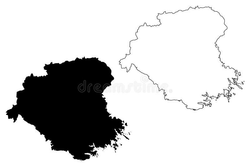 Condados del condado de Sodermanland de Suecia, reino del ejemplo del vector del mapa de Suecia, lä de Södermanland Sörmlands del libre illustration