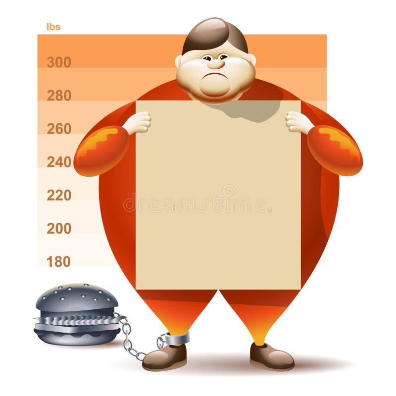 Condamné à l'obésité illustration de vecteur