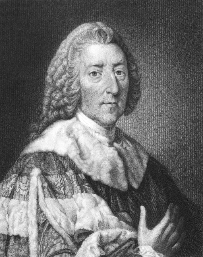 Conde de William Pitt ø de Chatham fotografia de stock royalty free