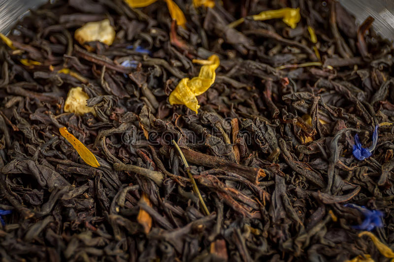 Conde Grey Tea Inside de una poder del vidrio DOF bajo fotos de archivo