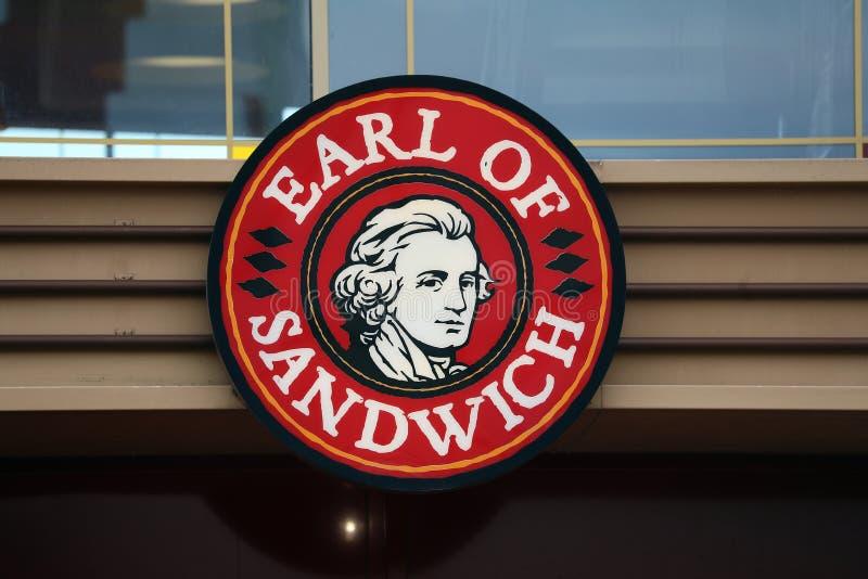 Conde Of Sandwich Sign imagens de stock royalty free