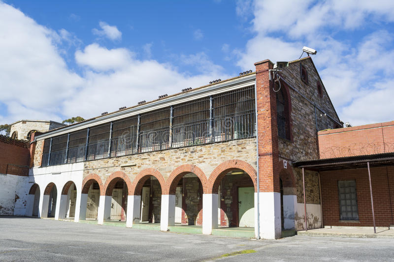 Condemed Cells, Four Yard, Adelaide Gaol, Adelaide, South Australia. Adelaide, South Australia, Australia - August 14, 2016: Condemed Cells in Four Yard at the stock photos