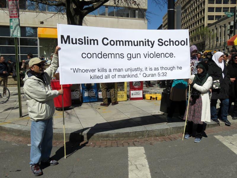 Condena violencia armada foto de archivo libre de regalías